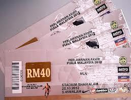 - Persatuan Bola Sepak Malaysia (FAM) semalam menegaskan harga tiket ...