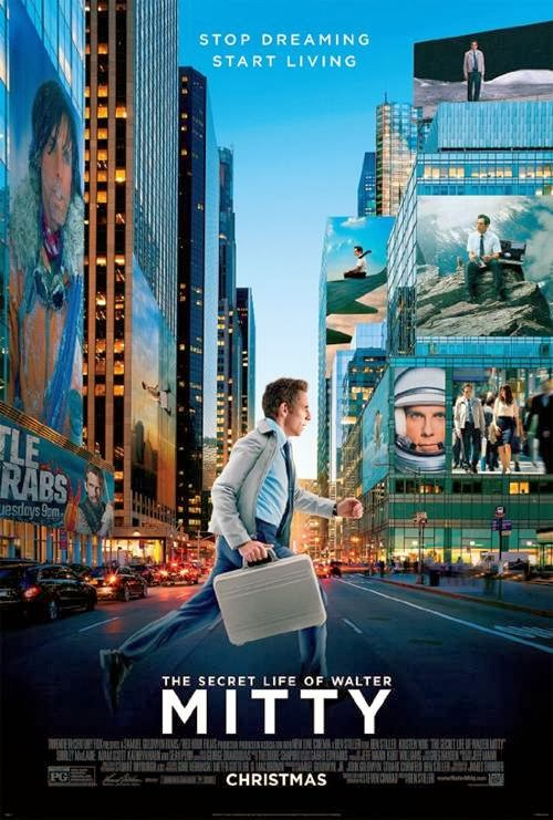 The Secret Life of Walter Mitty movie promo art