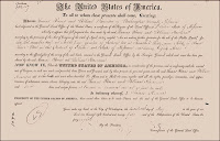 1820 Missouri Land Patent to Thomas Reeves & William Harrison