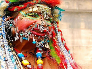 Elaine Davidson - World's most pierced woman - 2,520 piercings