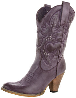 purple cowboy boots for women