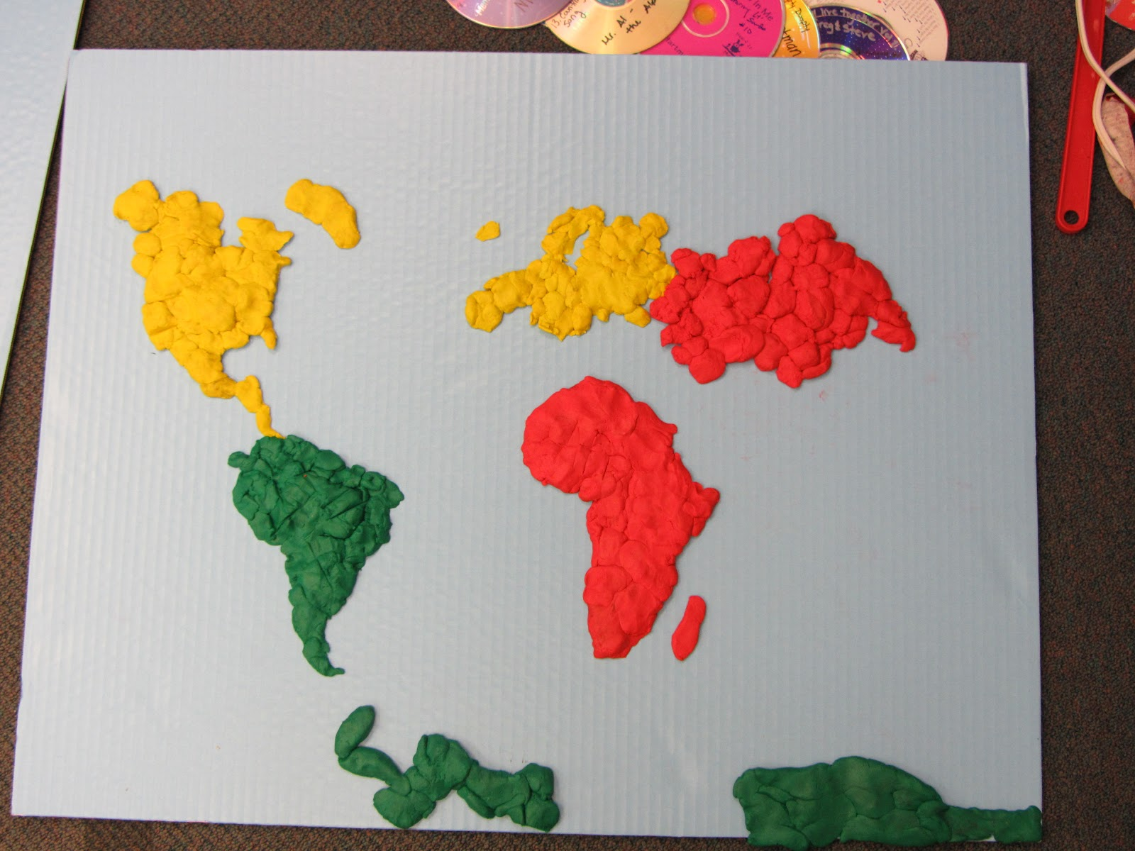 there u0026 39 s no place like first grade   making clay continents