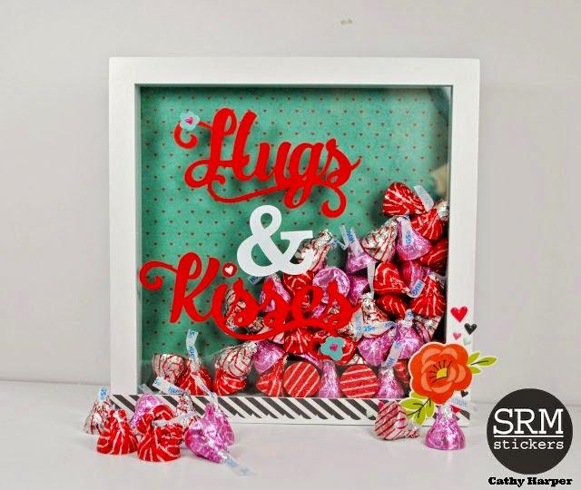SRM Stickers Blog - Vinyl Valentine Shadow Box by Cathy H - #valentine #love #shadowbox #vinyl #gift #DIY