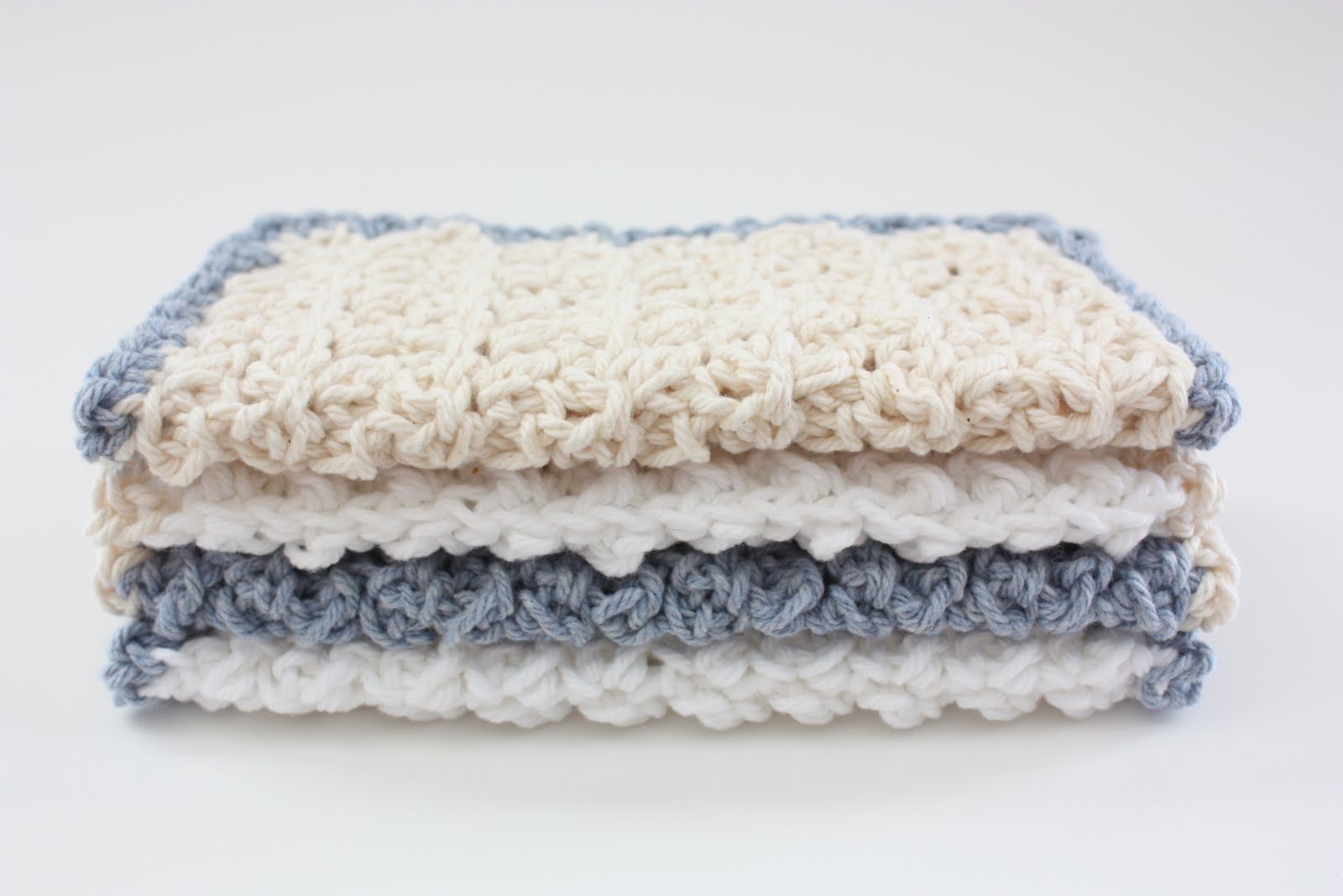 Crochet Baby Washcloth Pattern : Homestead: Crochet Washcloths for Baby