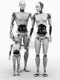 Picture of a robot family