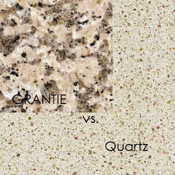 Difference between quartz and granite countertops html for Cost of quartz vs granite countertops