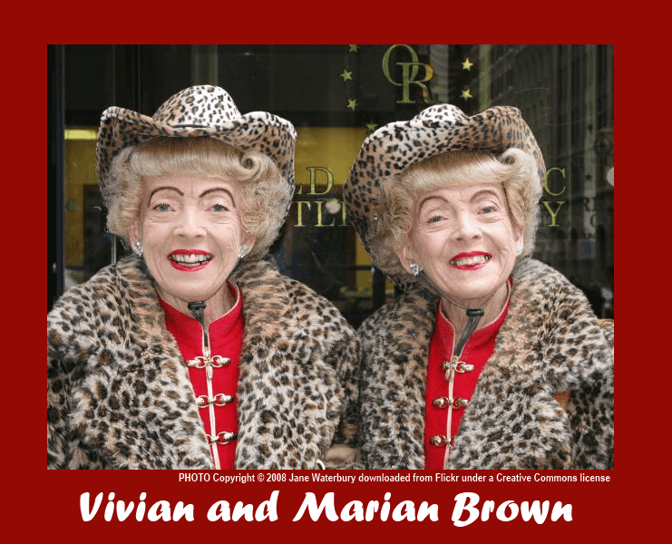 Vivian Brown and Marian Brown in leopard skin coats 2008.