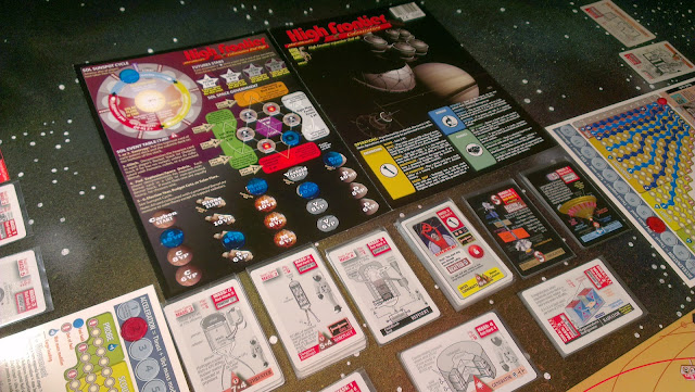 High Frontier cards and playmat