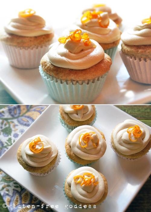 Gluten-Free Goddess Orange Creme Cupcakes - Vegan + Dairy-Free #glutenfree