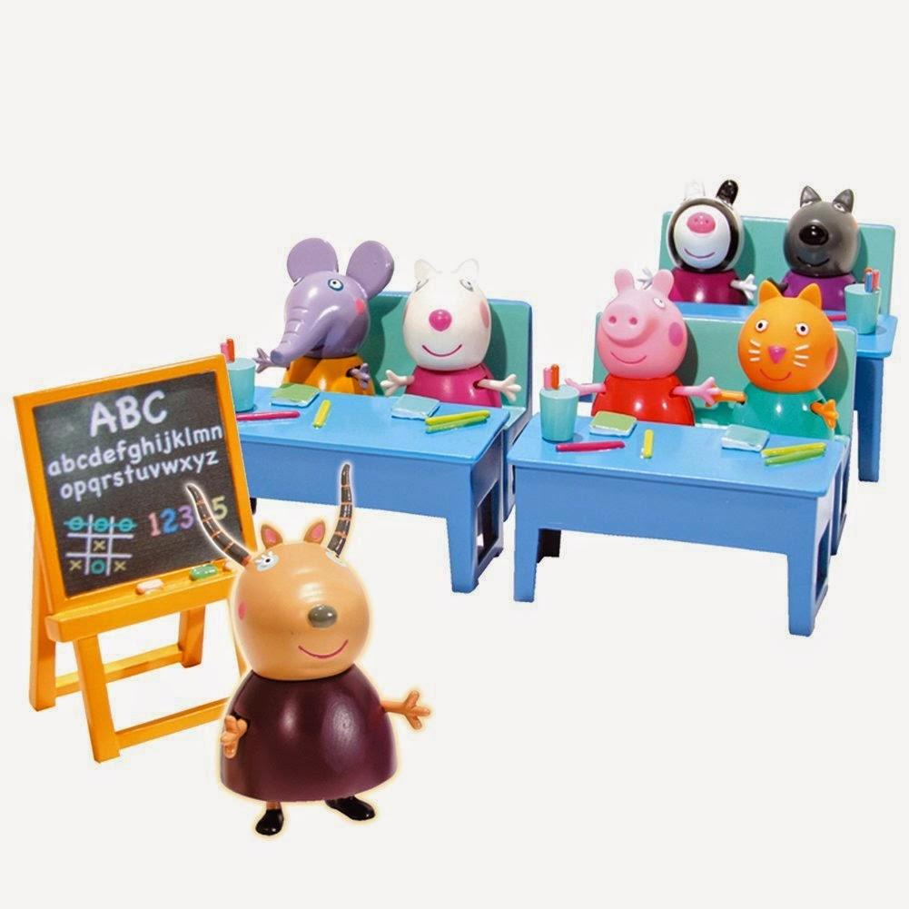 JUGUETES - PEPPA PIG - Vamos al cole con Peppa  Producto Oficial | Bandai 84213 | A partir de 3 años