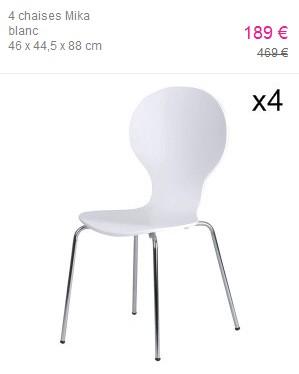 Chaises et autre mobilier une adresse unique for Chaise tulipe fly
