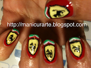 Ferrari logo nails