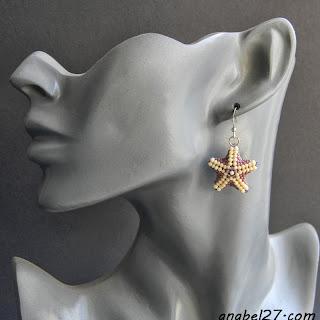 купить серьги морские звезды из бисера украина россия