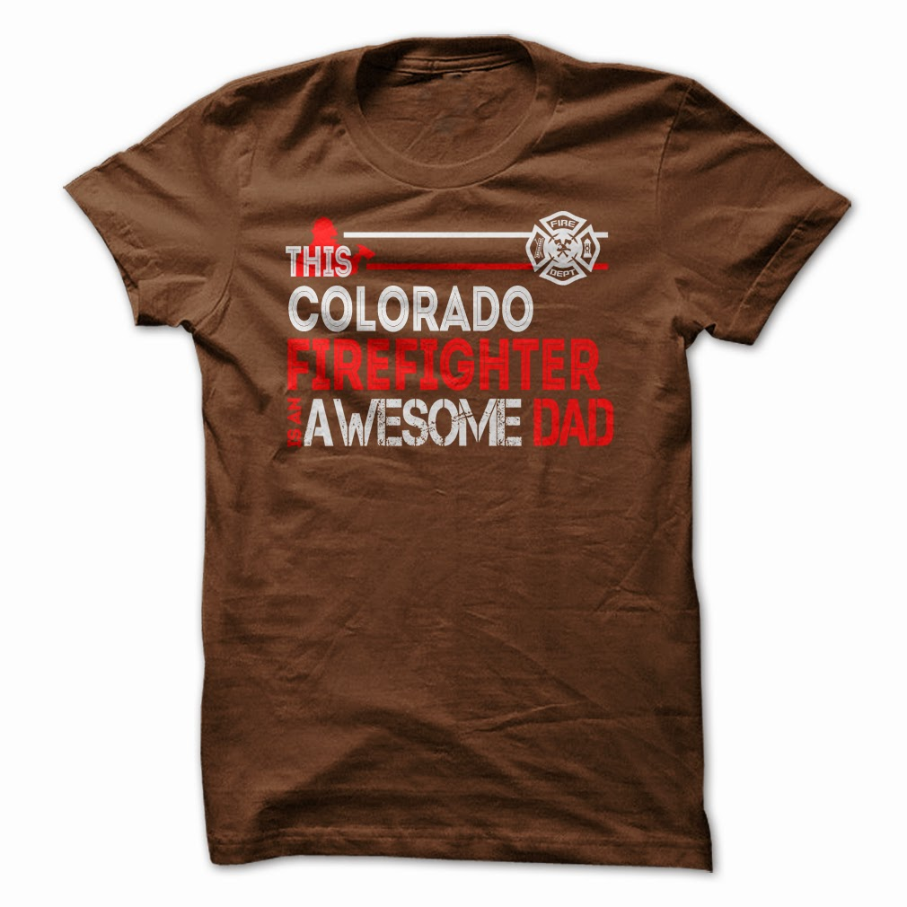 Colorado Firefighter Dad T Shirts