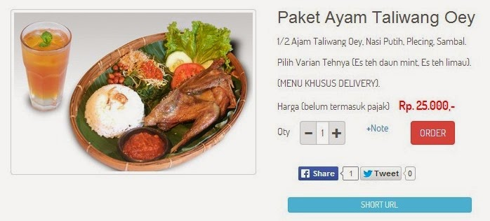 Paket Ayam Taliwang OEY