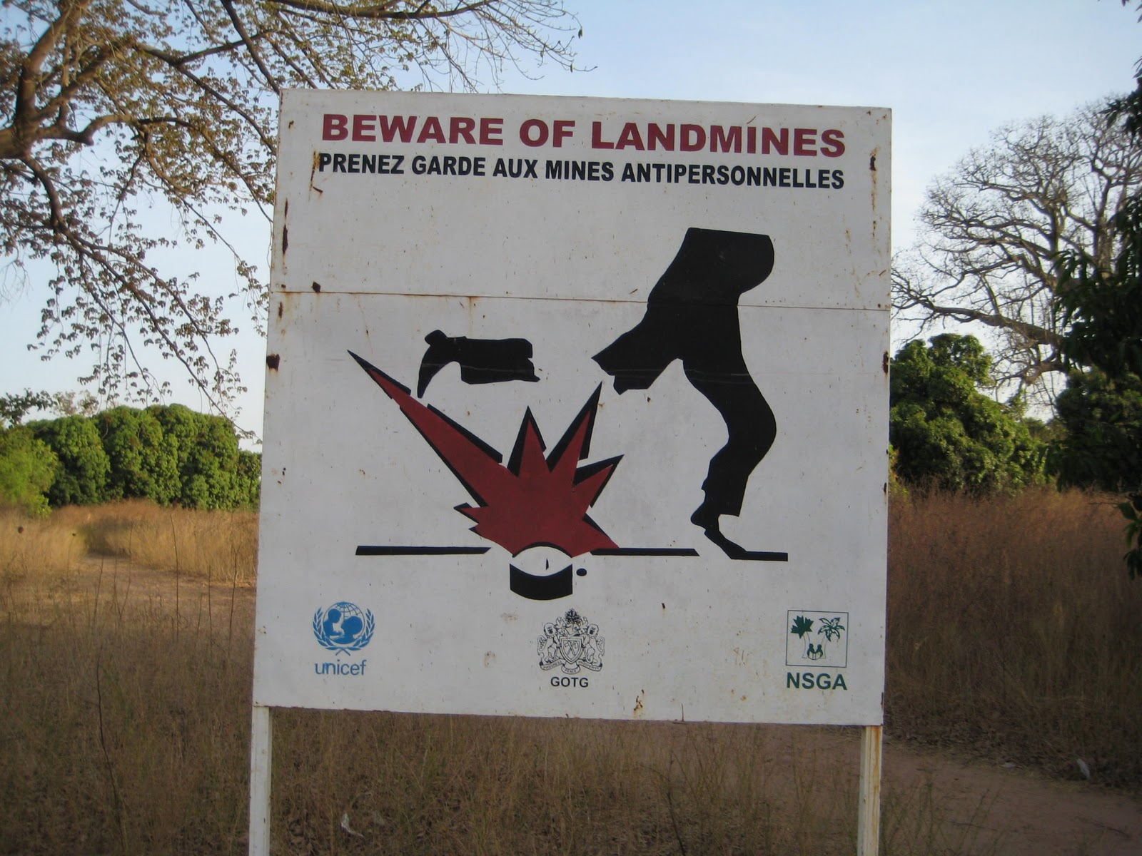 Image result for beware landmines
