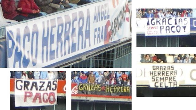 Balaídos da las gracias a su exentrenador Paco Herrera