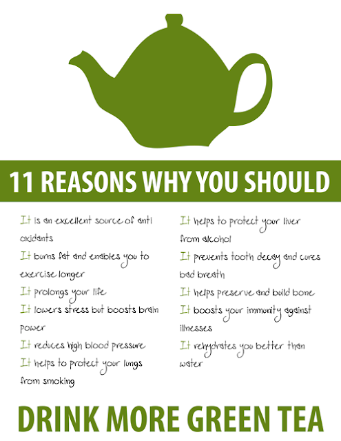green tea positive effects