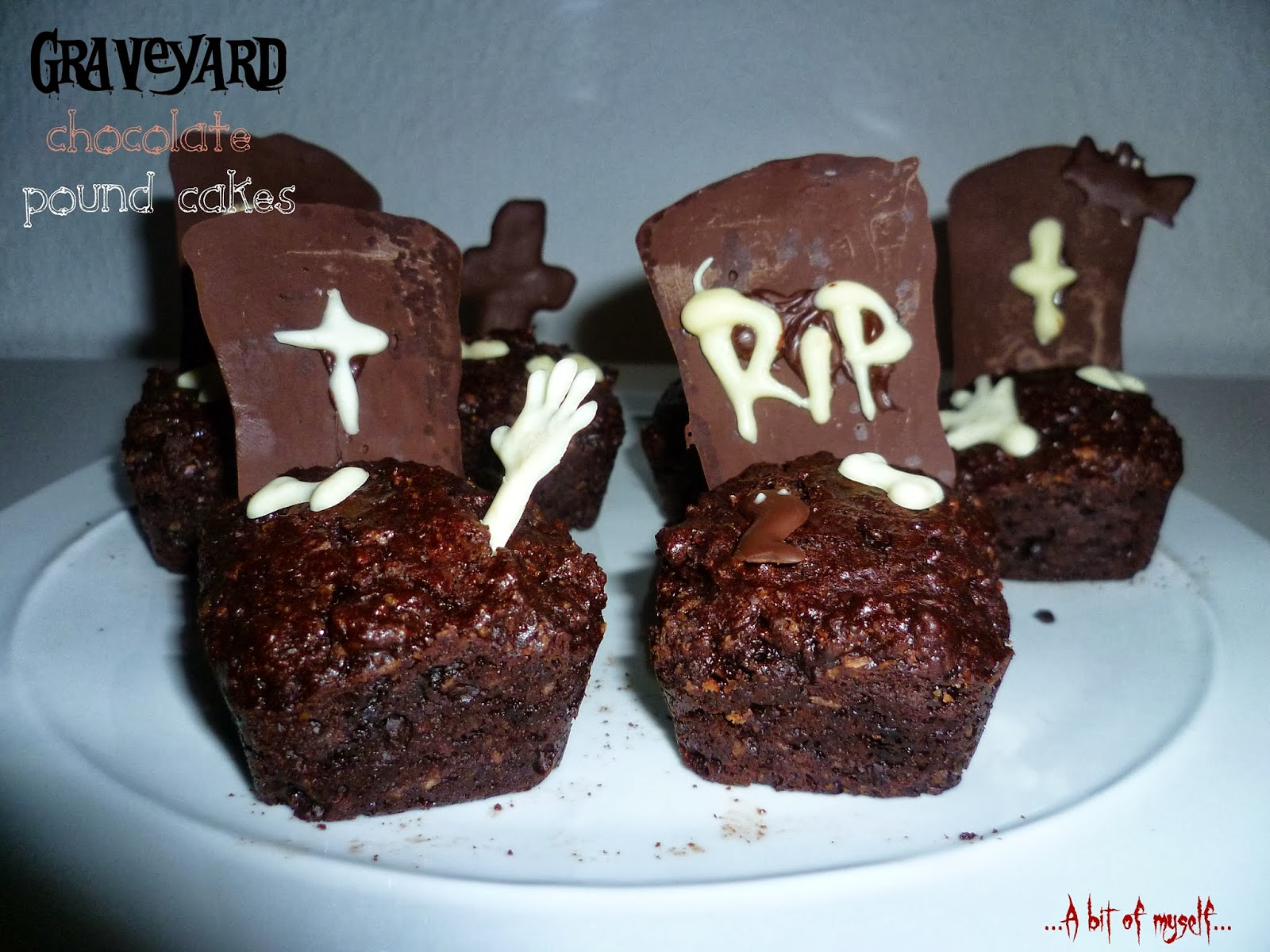 graveyard chocolate pound cakes