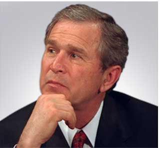 bush thoughtful 5 Orang Manusia Paling Dibenci Di Dunia