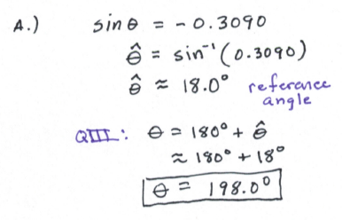 how to write multiple answers trig