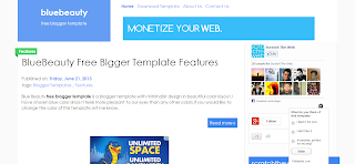 Blue Beauty Blogger Template