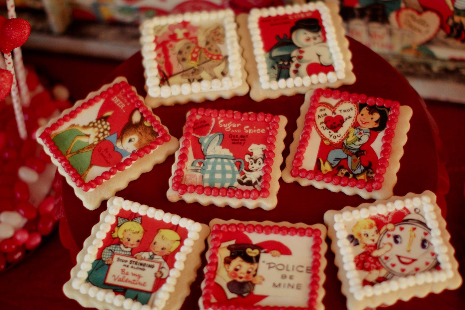 Be Mine Vintage Valentine Dessert Table Jenny Cookies