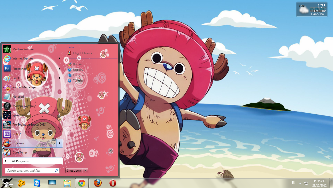 Theme Chopper - One Piece Cho win 7