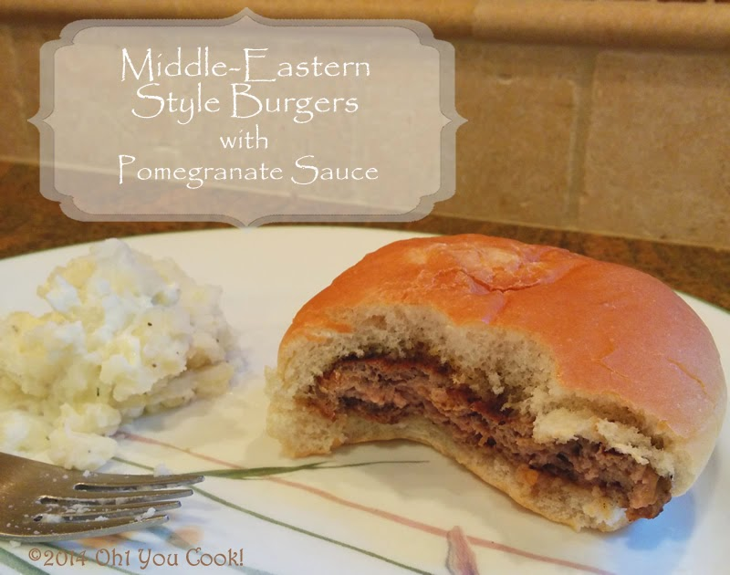middle-eastern-style burgers with pomegranate molasses - easy