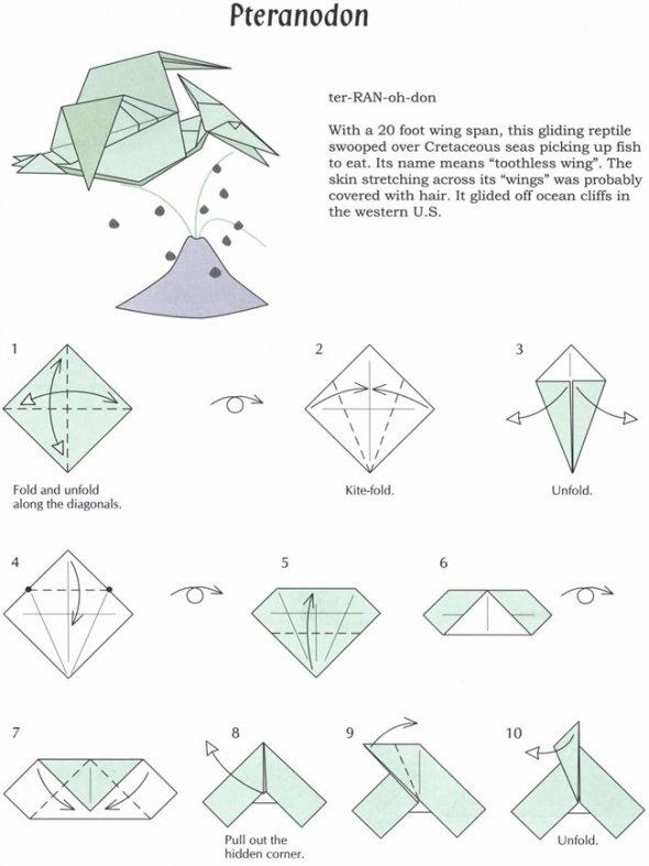 Origami Dinosaur Diagrams Claudia39s Room
