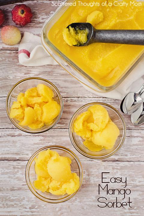 who loves mangos easy mango sorbet recipe scattered