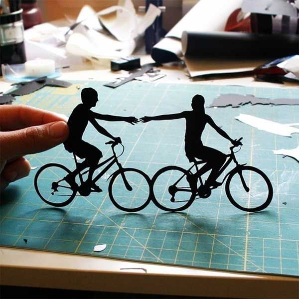 silhouette paper handcut by Joey Bagley