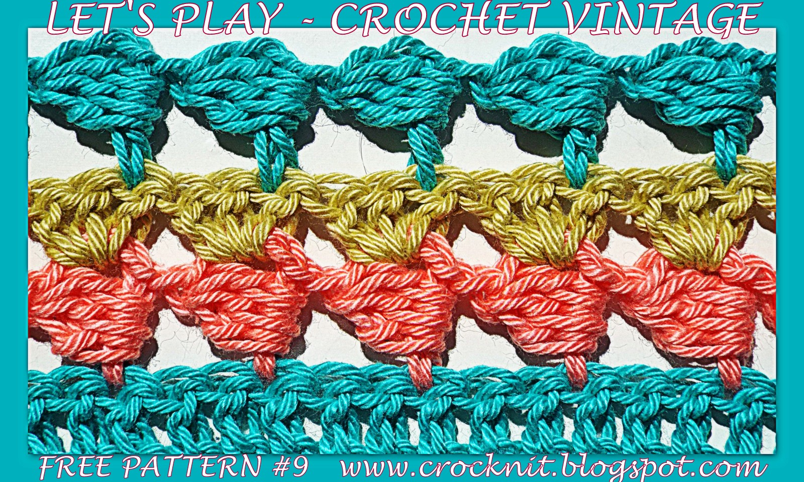 Crochet Stitch Rtrf : free crochet patterns, how to crochet, vintage, sideways,