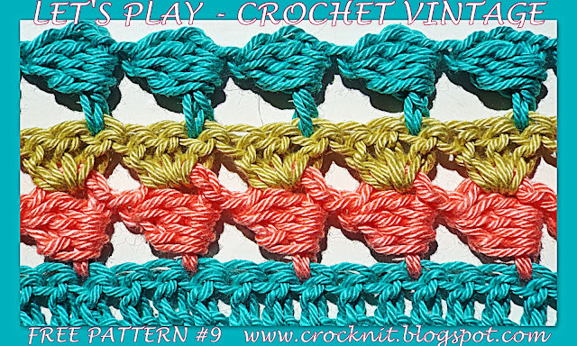 free crochet patterns, how to crochet, vintage, sideways,