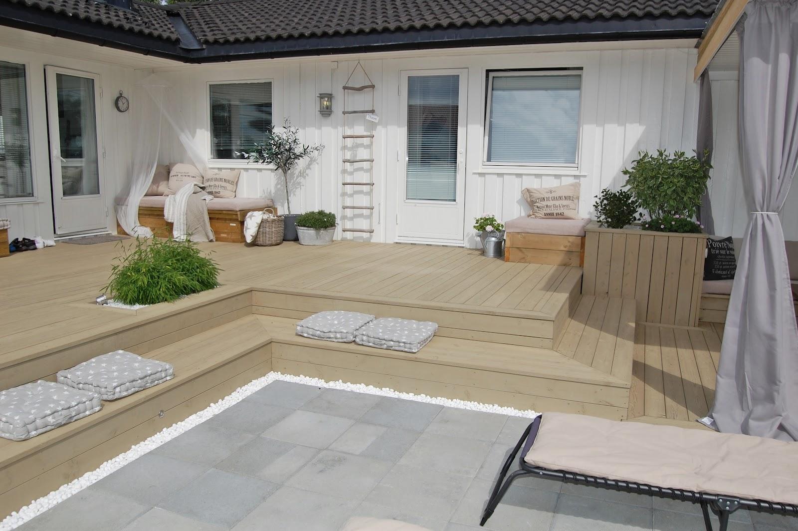 Inspirasjon terasse: terrasse er tre m?rk eller lys at det var ...