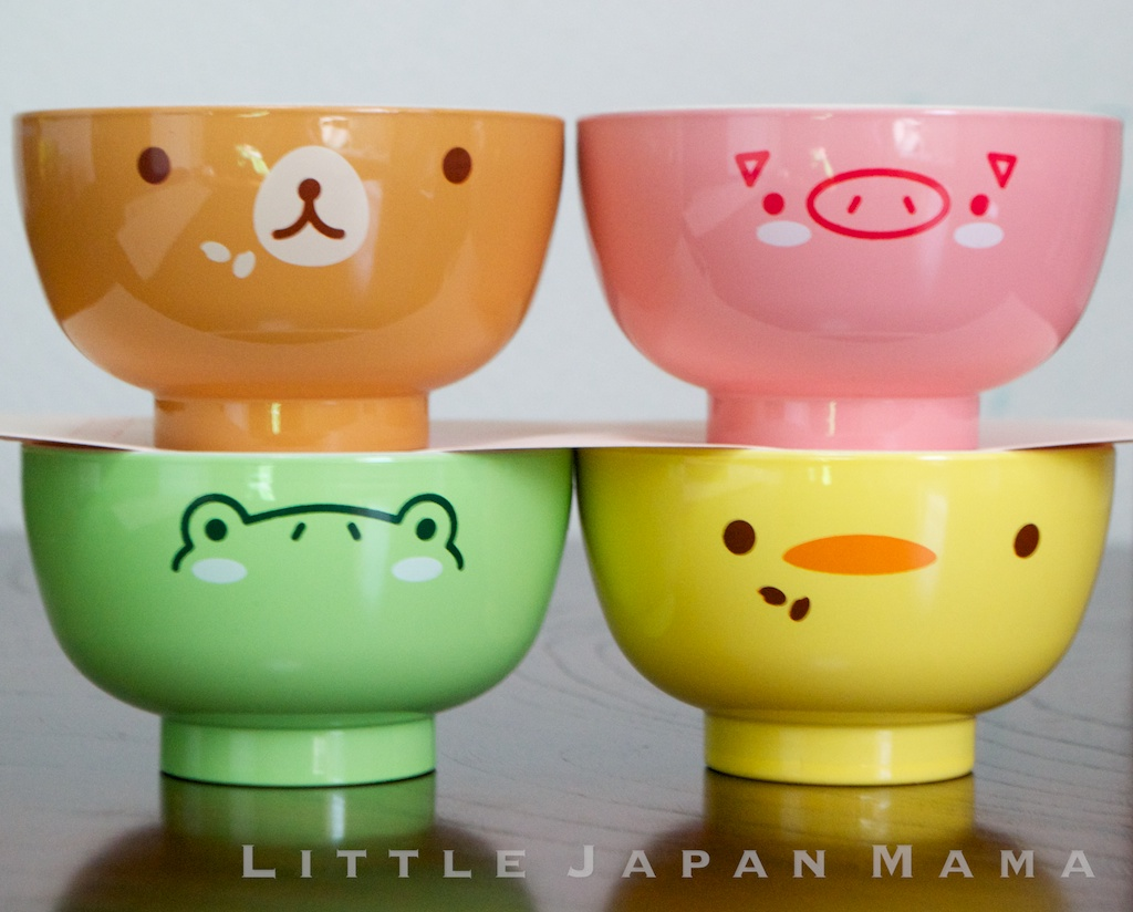 Little Japan Mama Miso Soup Bowl Bear And Pig