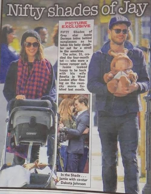 """Scan y Fotografia sin marcas: Jamie Dornan y su familia en el Diario """"The Sun"""""""