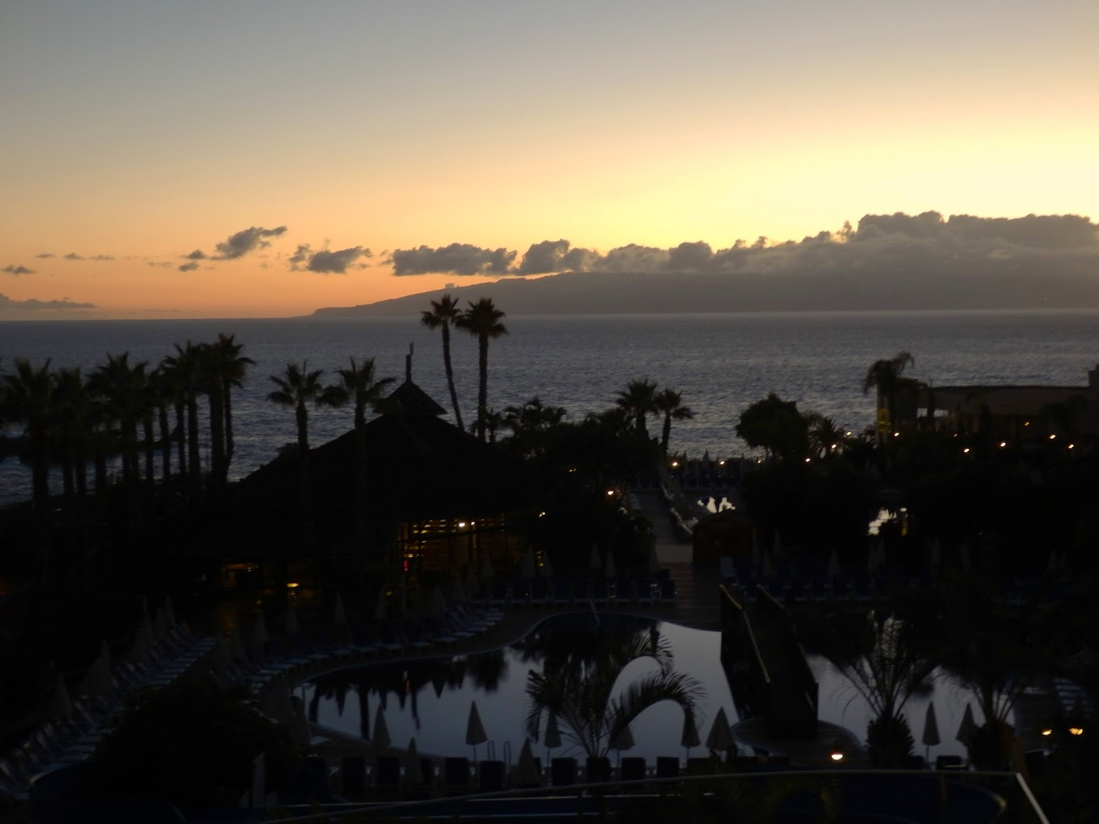 Sunset over Gomera, Canary Islands
