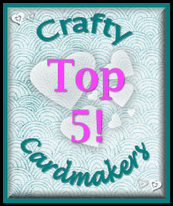 Аз съм в TOP 5 на Crafty Cardmakers - Autumn or Autumn Festivals