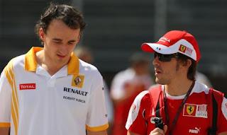 Robert Kubica Fernando Alonso 2012