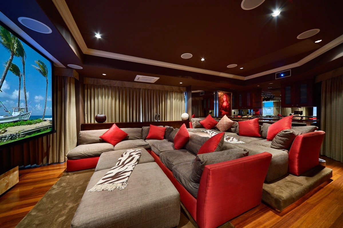 Bringing luxury to game rooms for Small room movie theater