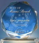 2011 Voted best of Miami Beach Limousine service by US Commerce Association