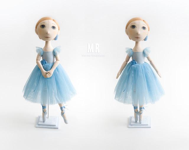 Балерина. Текстильная кукла. Игрушки ручной работы. Марина Рослякова. Marina Roslyakova. Hand made toys