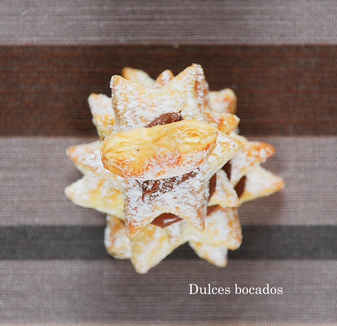 Arbol de Navidad de hojaldre y Nutella - Dulces bocados
