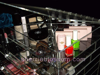 Lucite acrylic makeup storage
