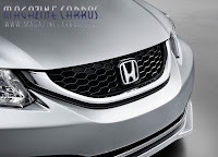 Grade frontal do Novo Honda civic 2013 Brasil