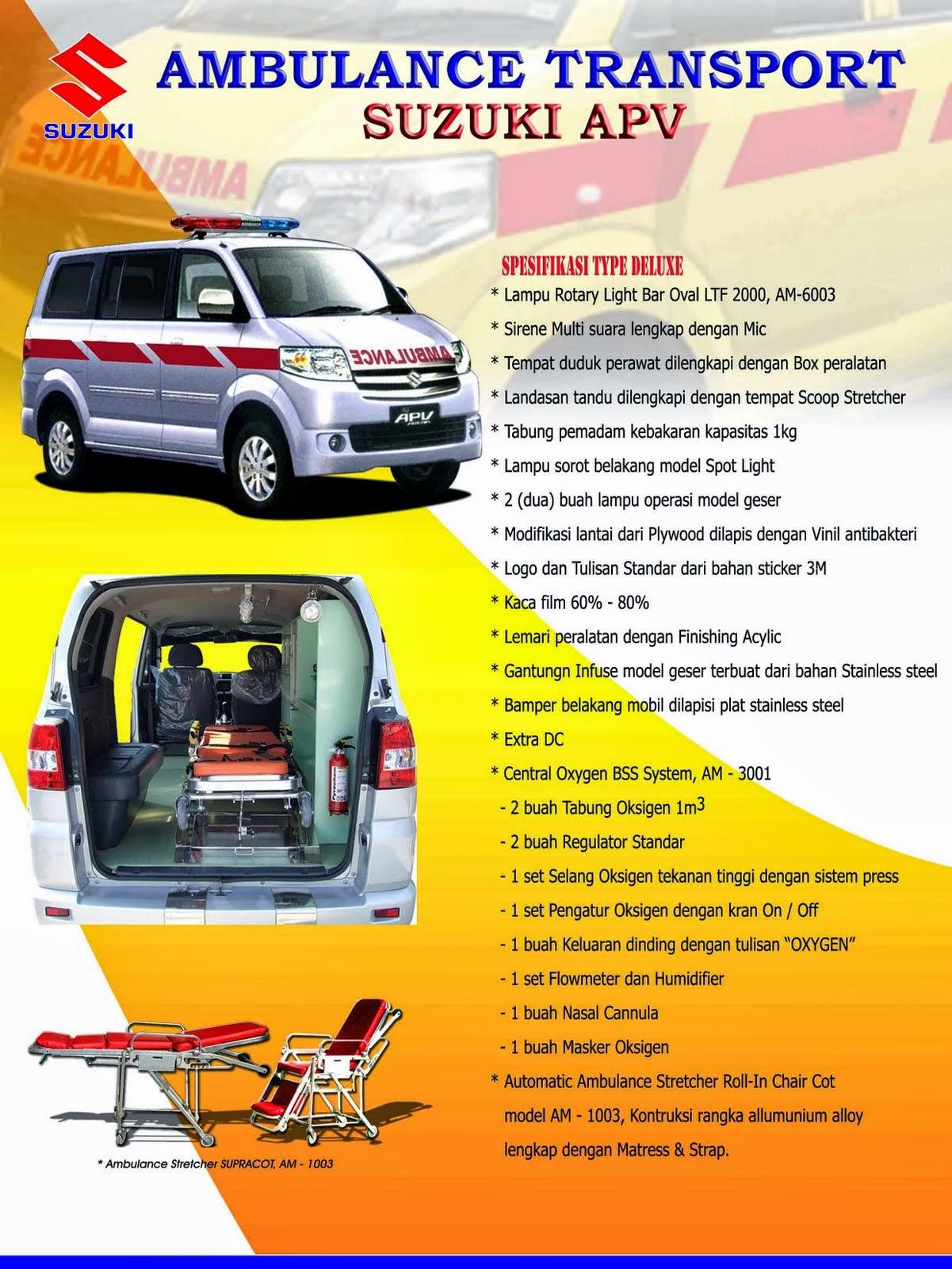 APV Ambulance Spesifikasi Deluxe 2014