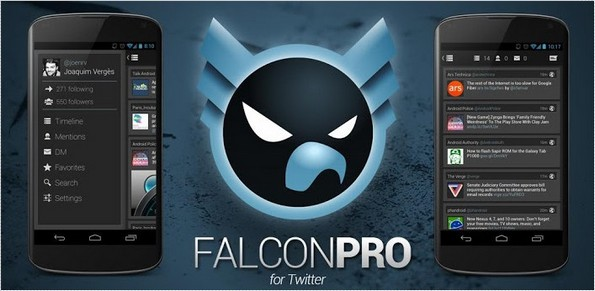 Falcon Pro Android app
