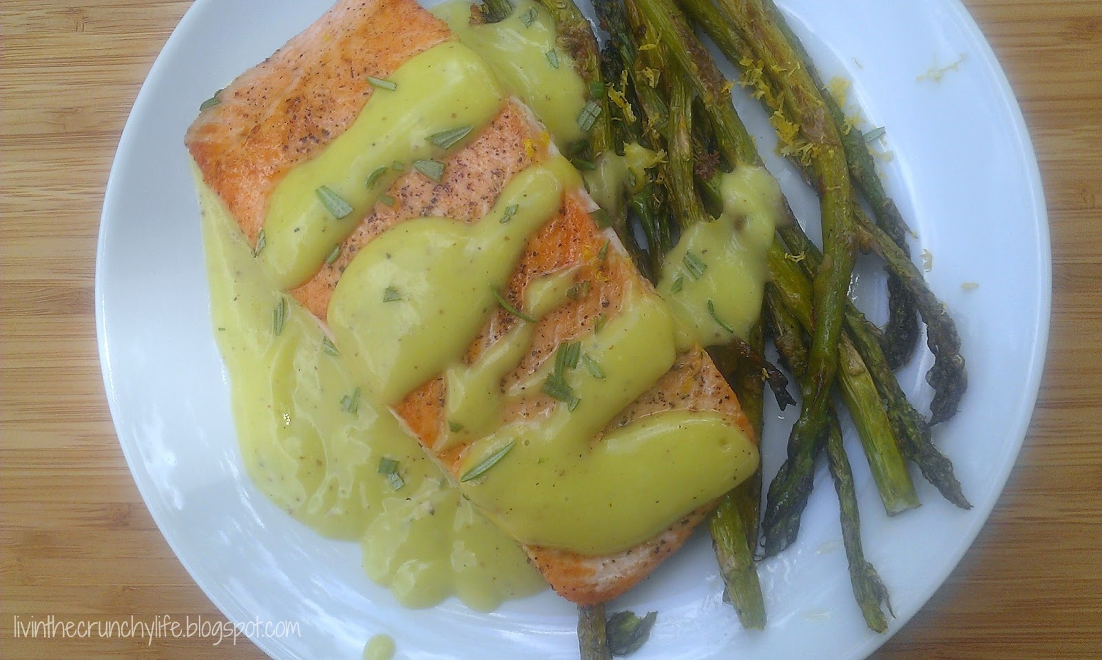 Pan-fried Salmon with a Creamy Meyer Lemon Vinaigrette