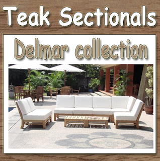 Delmar collection New Luxurious 7pc Teak Sectional, Quality Teak Furniture, Quality Teak Sectionals, Teak Sectionals,